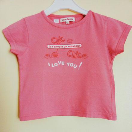 vetements occasion enfants. vetements occasion bébé. T-shirt pas cher fille 5 ans rose