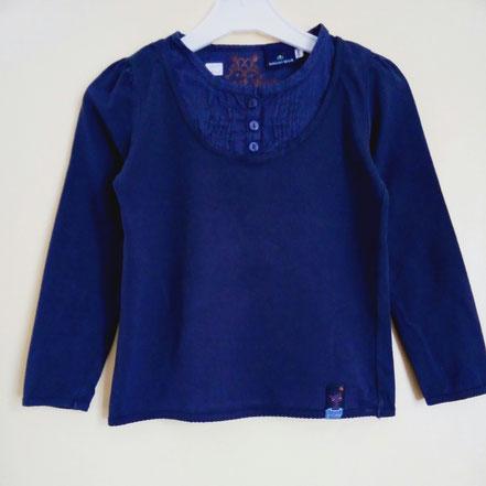 vetement occasion enfants.T-shirt manches longues bleu nuit Sergent Major 6 ans