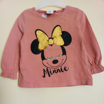 T-shirt manches longues Minnie 2 ans sequins et paillettes