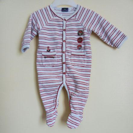 Pyjama en velours Sergent Major 6 mois pas cher