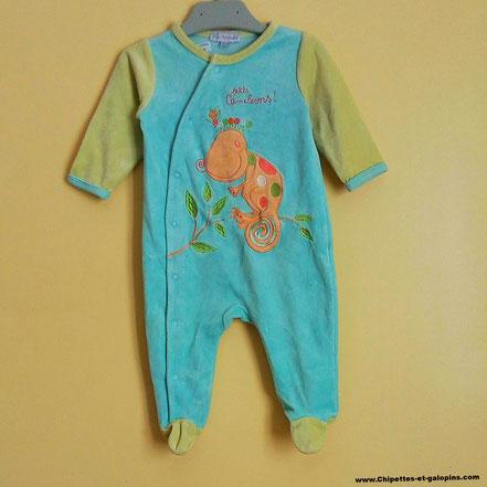 pyjama velours 6 mois
