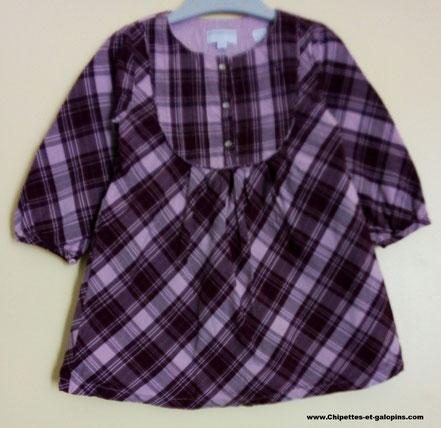 robe en tissu doublé 18 mois