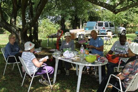 Création mobilier de jardin - association terres à vivre