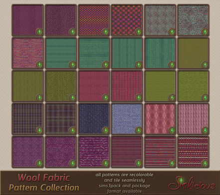 Wool Fabric Pattern Collection