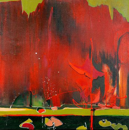Am Wald / Acryl auf Leinwand / 70 x 70 cm