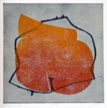 6 a -Körperwelten 2011-02 / Farbholzdruck auf Papier / 40 x 40 cm