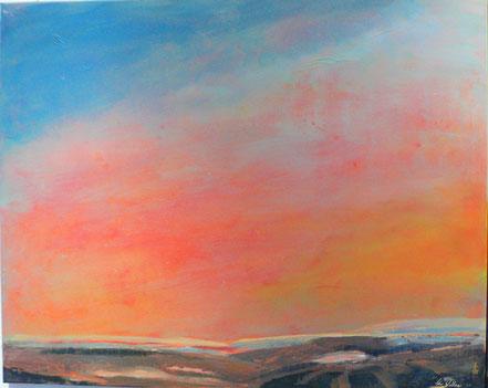 Abend in Scane I | Acryl auf Leinwand | 80 x 100 cm