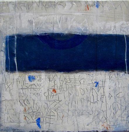Geheime Zeichen II / Mischtechnik auf Leinwand / 40 x 40 cm