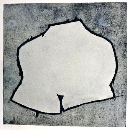 6 b -Körperwelten 2011-02 / Farbholzdruck auf Papier / 40 x 40 cm