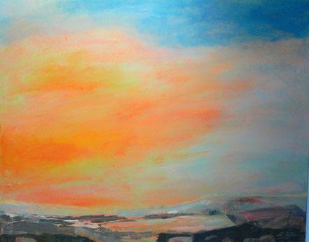 Abend in Scane II | Acryl auf Leinwand | 80 x 100 cm