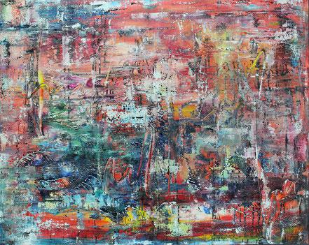 Heißer Sommer / Acryl auf Leinwand / 80 x 100 cm