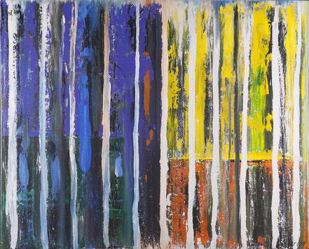 Geistige Welten 1 / Acryl auf Leinwand / 100 x 120 cm