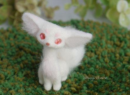 羊毛フェルト 管狐 桜 シークレット