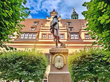 Goethe-Denkmal am Alten Rathaus Leipzig