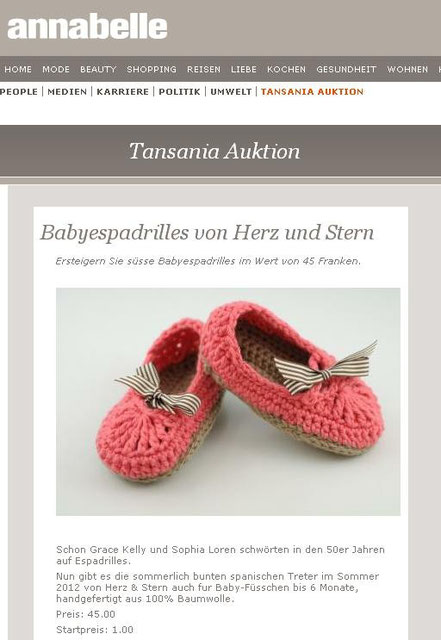annabelle Online Charityaktion - Mai 2012