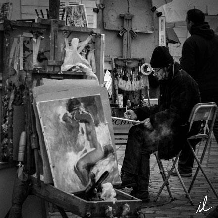 Peintre à Montmartre, Paris, France