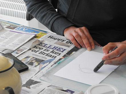 Monoprinting at a printmaking workshop