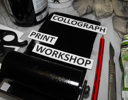Collograph printmaking workshop