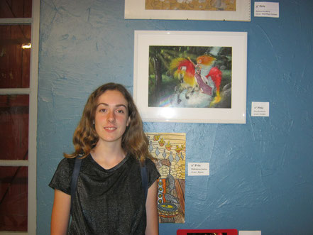 Nina Kovacevic visit to the Musée de peinture de Saint-Frajou