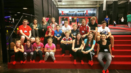 Jungmusikantenausflug 2016 zum Trampolinpark 'Xtreme-Jump' in Ulm