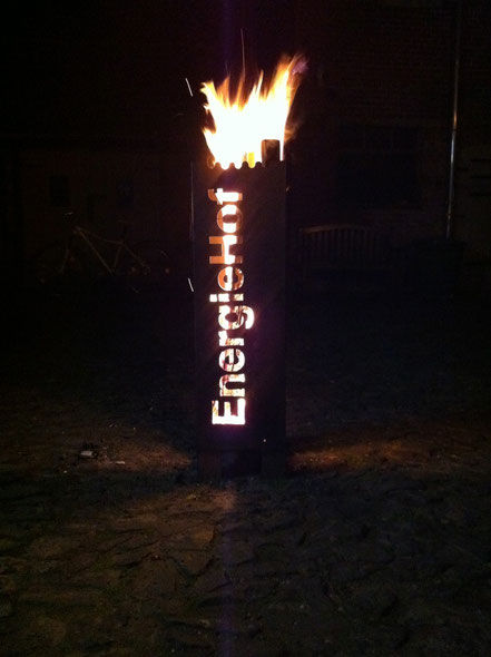 Feuersäule liefern wir nach Ihren Vorstellungen und Vorgaben