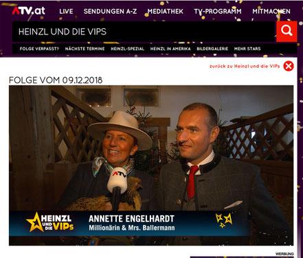 Ballermann - Chefin annette engelhardt mit Dieter Ehrengruber (GF Gut Aiderbichl bei ATV Österreich)