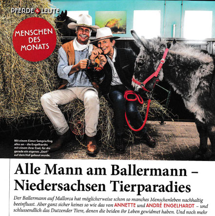 St. Georg - die große Reiterzeitschrift bei Annette u. André Engelhardt auf der BALLERMANN RANCH