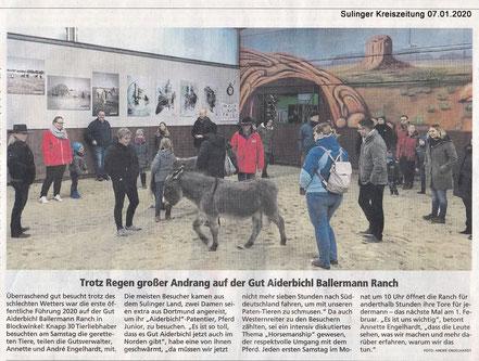 Annette u. andré engelhardt empfangen erste Besucher in 2020 auf der Ballermann Ranch