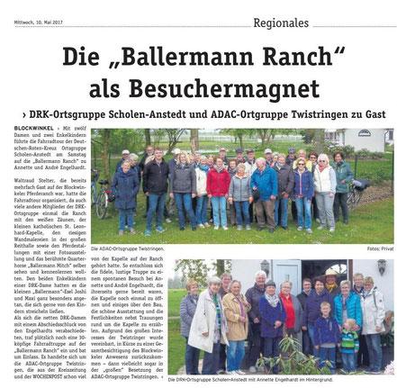 Ballermann Ranch - ADAC Ortsgruppe Twistringen zu Gast