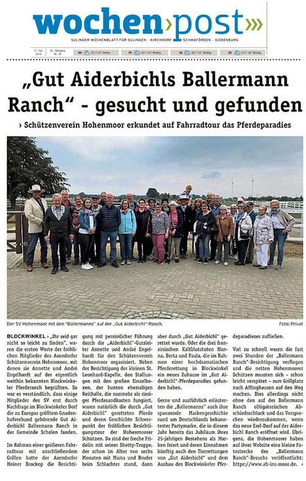 Annette u. André Engelhardt empfangen Schützen aus Hohenmoor (bei Asendorf)