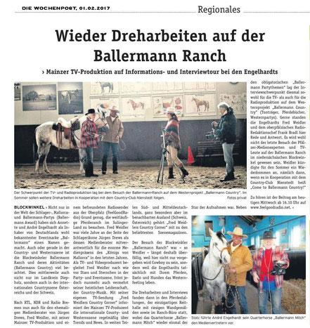 Dreharbeiten auf der Ballermann Ranch in Blockwinkel (Niedersachsen)