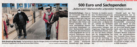 Annette Engelhardt von der Gut Aiderbichl Ballermann Ranch mit Martina Görges ranch