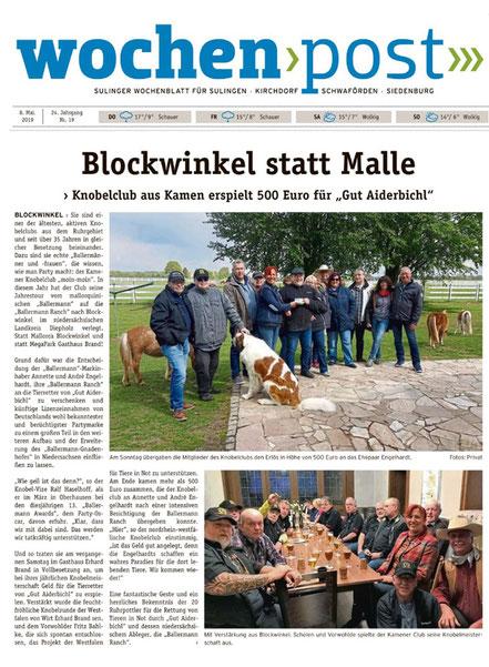 """Kamener Knobelclub """"moin moin"""" auf der 'Gut Aiderbichl BALLERMANN RANCH' bei Annette u. André Engelhardt"""