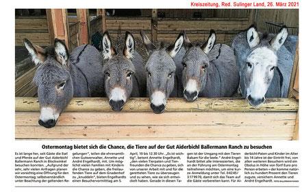 Annette u. Andre Engelhardt laden zur Führung am Ostermontag auf die BALLERMANN RANCH