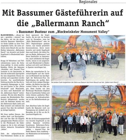 Stadt Bassim bei Annette u. André Engelhardt auf der Ballermann Ranch in Blockwinkel