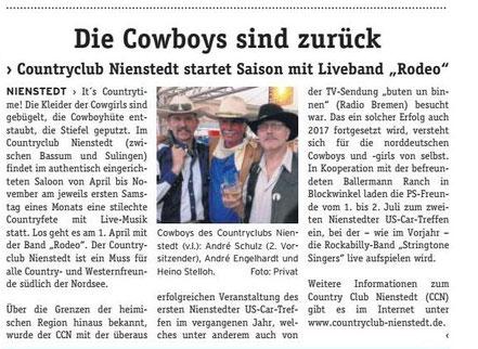 André Schulz, André Engelhardt, Heino Stelloh - Cowboys des CCN Bericht: DIE WOCHENPOST