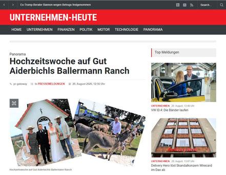 Hochzeitswoche auf Gut Aiderbichls Ballermann Ranch bei Annette u. André Engelhardt