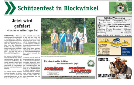 Schützenfest 2018 des Schützenverein Blockwinkel