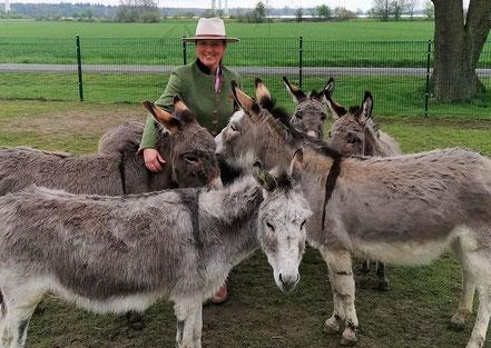 Eseltruppe bei Annette u. Andre Engelhardt auf der Ballermann Ranch