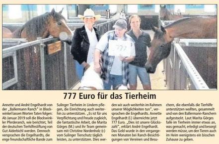 Kreiszeitung Red. Sulingen, 25.08.2018