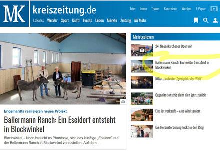 Sulinger Kreiszeitung, Red. Andreas Behling: Ein Eseldorf in Blockwinkel