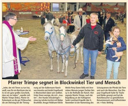 Tiergesgnung bei Annette u. Andre Engelhardt auf der Ballermann Ranch in Blockwinkel