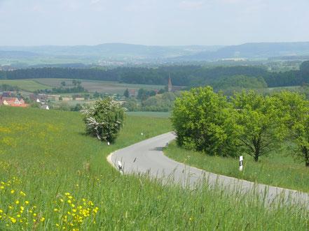 Ortsverbindungsstraße Tauchersreuth - Beerbach