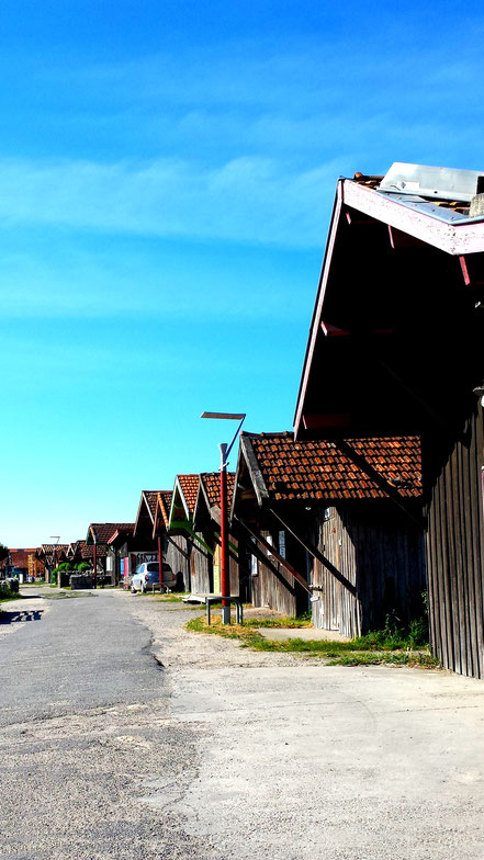 cabanes ostréicoles port de larros, gujan mestras bassin d'Arcachon