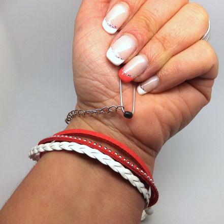 Astuce pour mettre mon bracelet seule blog manoleo fantaisies En tenant toujours votre épingle à nourrice dans la paume, enroulez le bracelet autour de votre poignet