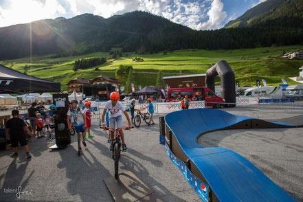 Ischgl Ironbike Festival mit Challenge auf dem Parkitect Modular Pumptrack von PZ Pumptrack