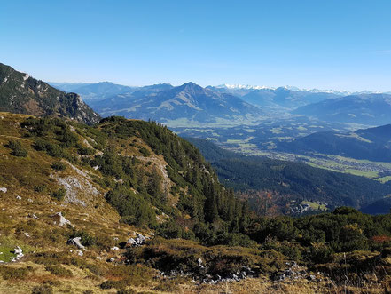 Blick von der Gruttenhütten zum Kitzbüheler Horn