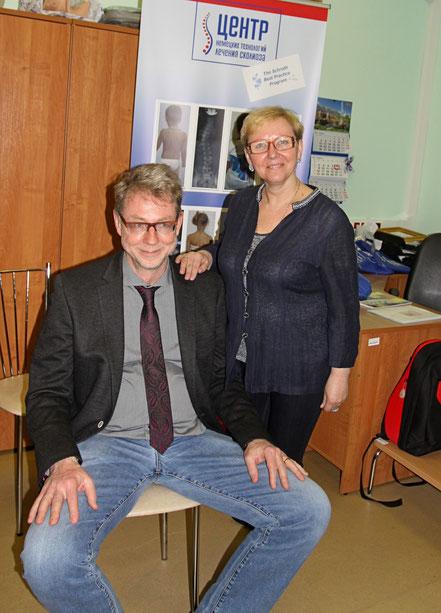 С профессором Ханс-Рудольфом Вайссом (Германия) на курсе по современным методам лечения сколиоза, Санкт-Петербург, 2014 г.