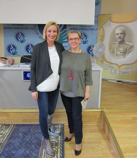 С доктором Ринатой Поспишил (Австрия) на курсе лекций по УЗИ тазобедренных суставов у детей, Санкт-Петербург, 2015 г.