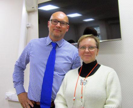 С профессором Ульфом Уштадом (Германия) на сертификационном тренинге по ботулинотерапии при ДЦП, Москва, 2014 г.